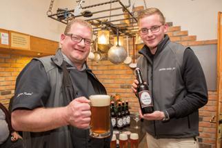 Unsere Bierbrauer Christian und Christian Junior, Foto Kulmer